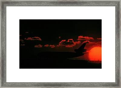 Waiting For Takeoff Framed Print
