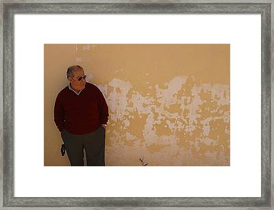Waiting For Teh Ladies Again Framed Print by Jez C Self