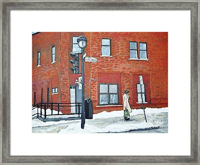 Waiting For The 107 Bus Framed Print by Reb Frost