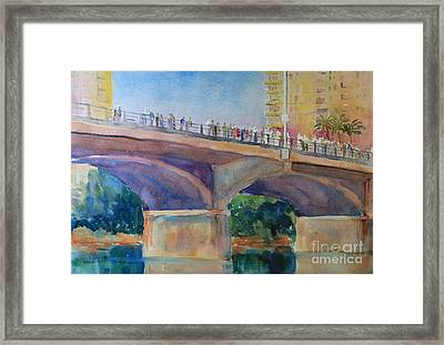 Waiting For The Bats Framed Print by Marsha Reeves