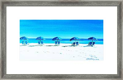 Waiting For The Beach Sitters Framed Print