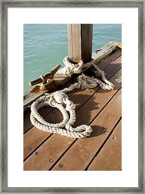 Waiting For The Boat Framed Print by Ryan Burton