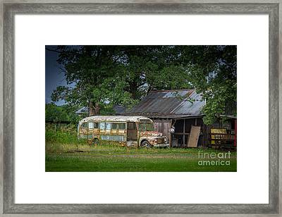 Framed Print featuring the photograph Waiting For The Bus In Tennessee by T Lowry Wilson