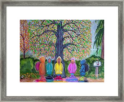 Waiting For The Bus Framed Print by Nick Gustafson