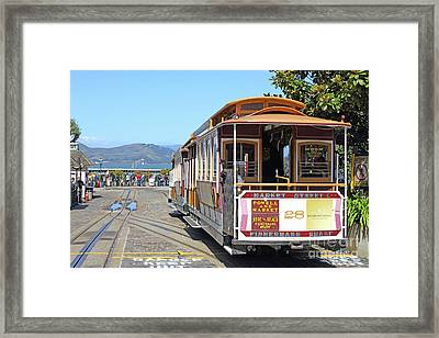 Waiting For The Cablecar At Fishermans Wharf San Francisco California 7d14099 Framed Print