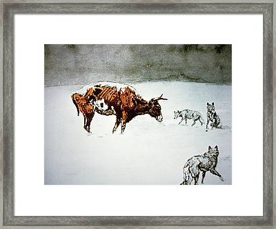 Waiting For The Chinook Framed Print