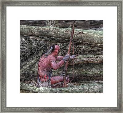 Waiting For The Enemy Framed Print by Randy Steele