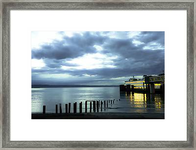 Waiting For The Ferry Framed Print