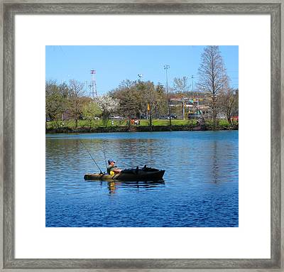 Waiting For The Fish Framed Print by Diana Moya
