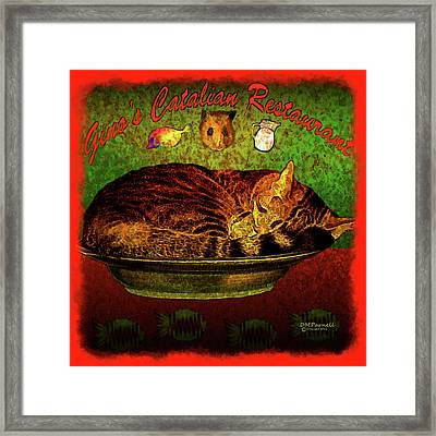 Waiting For The Lunch Rush Framed Print