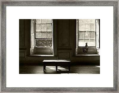 Waiting For The Master Framed Print by Ron Jones