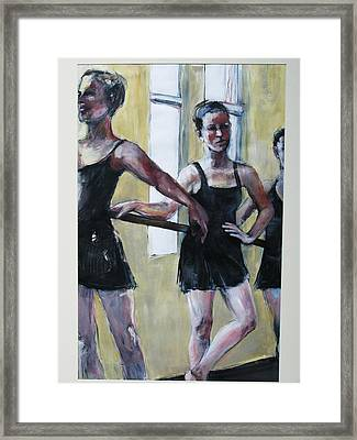Waiting For The Music Framed Print by Michelle Winnie