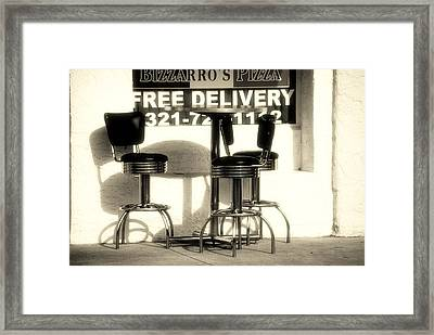 Waiting For The Pizza Framed Print