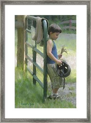 Waiting For The Pony Framed Print by Elzire S