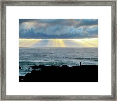 Waiting For The Rain. Framed Print