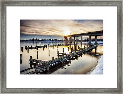 Framed Print featuring the photograph Waiting For The Set by Edward Kreis
