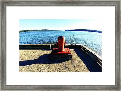 Waiting For The Ship To Come In. Framed Print
