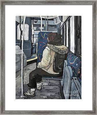 Waiting For The Stop Framed Print by Reb Frost
