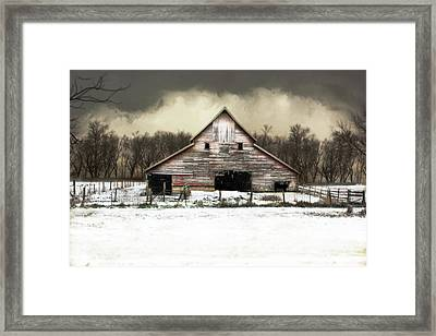 Waiting For The Storm To Pass Framed Print by Julie Hamilton