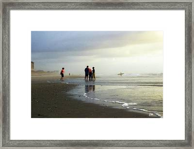 Framed Print featuring the photograph Waiting For The Sun by Phil Mancuso