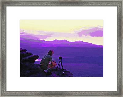 Waiting For The Sunrise - Dead Horse Point Utah Framed Print by Steve Ohlsen
