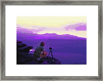 Waiting For The Sunrise - Dead Horse Point Utah Framed Print by Steve Ohlsen