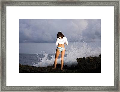 Waiting For The Sunset Framed Print by Marcos Vargas