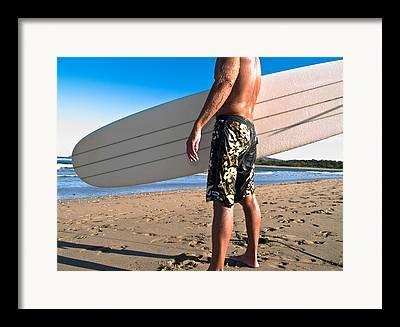 Water Athletes Framed Prints