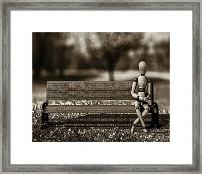 Waiting For The Taxi Framed Print by Bob Orsillo