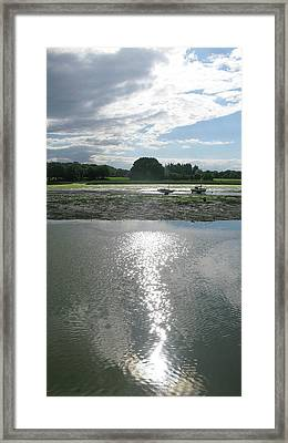 Waiting For The Tide Framed Print by Maria Joy