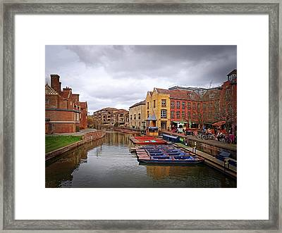 Framed Print featuring the photograph Waiting For The Tourists Cambridge by Gill Billington