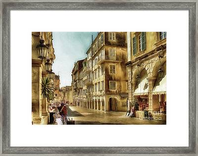 Waiting For The Tourists Framed Print by Lois Bryan