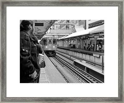 Waiting For The Train 3 Framed Print