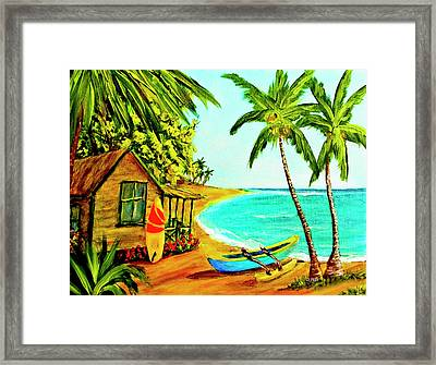 Waiting For The Waves Hawaii #387  Framed Print by Donald k Hall