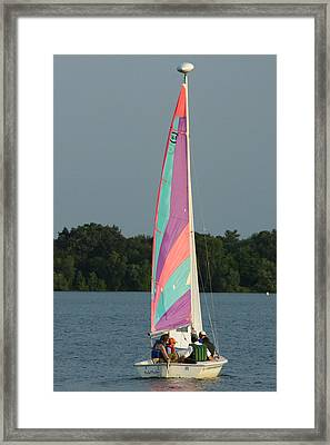 Framed Print featuring the photograph Waiting For The Wind by Ron Read