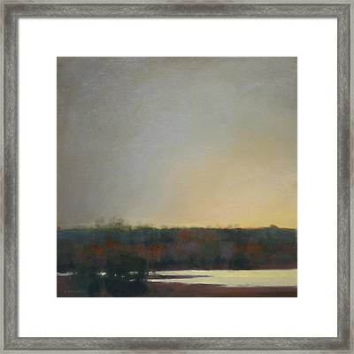 Framed Print featuring the painting Waiting For Whitewings Sold by Cap Pannell