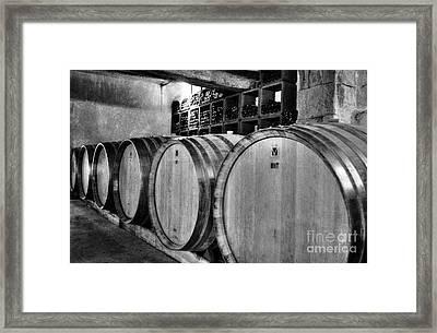 Waiting For Wine 2 Bw Framed Print