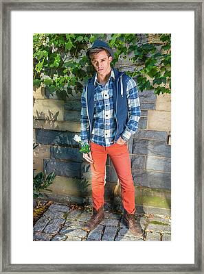 Young Man Waiting For You Framed Print