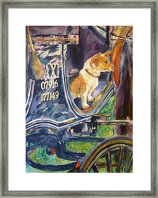 Framed Print featuring the painting Waiting For You by P Maure Bausch