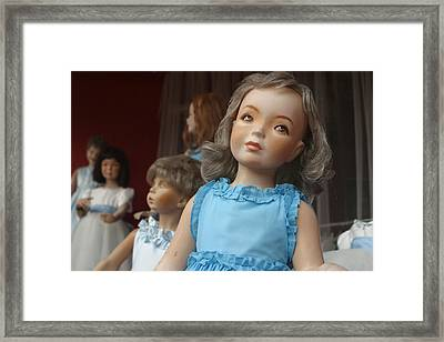 Waiting For You To Come In The Shop Framed Print by Jez C Self