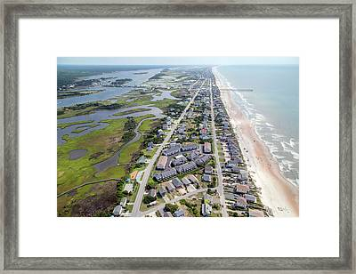 Waiting For You Topsail Island Framed Print by Betsy Knapp