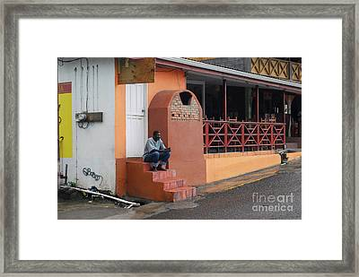 Framed Print featuring the photograph Waiting by Gary Wonning