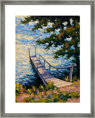 Waiting Framed Print by Gene Cadore