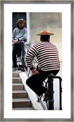 Waiting Gondoliers Framed Print by Neil Buchan-Grant