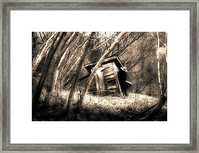 Framed Print featuring the photograph Waiting... by Gray  Artus