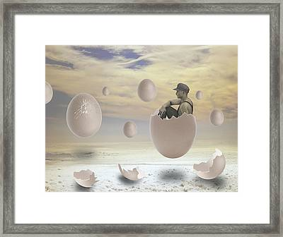 Waiting In Anticipation Framed Print by Solomon Barroa