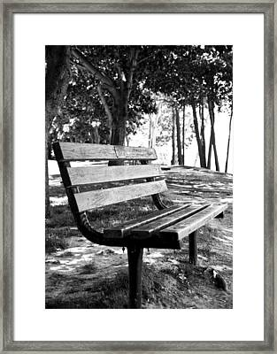 Waiting In Bw Framed Print by Edward Myers