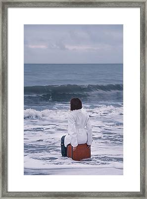 Waiting In The Flood Framed Print