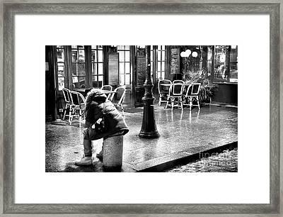 Waiting In The Latin Quarter Framed Print