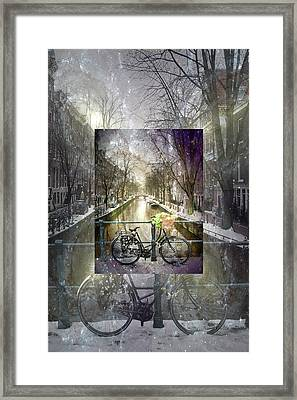 Waiting In The Snow Framed Print